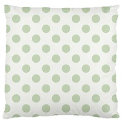 Green Dots Modern Pattern Paper Standard Flano Cushion Case (two Sides)
