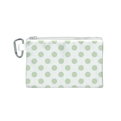 Green Dots Modern Pattern Paper Canvas Cosmetic Bag (s)