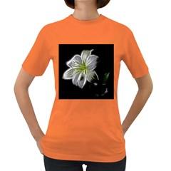 White Lily Flower Nature Beauty Women s Dark T Shirt