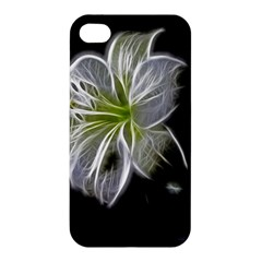 White Lily Flower Nature Beauty Apple Iphone 4/4s Hardshell Case