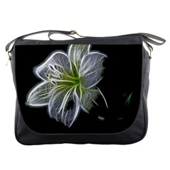 White Lily Flower Nature Beauty Messenger Bags