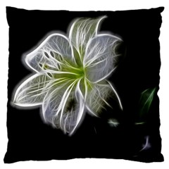 White Lily Flower Nature Beauty Large Cushion Case (one Side)