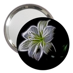 White Lily Flower Nature Beauty 3  Handbag Mirrors