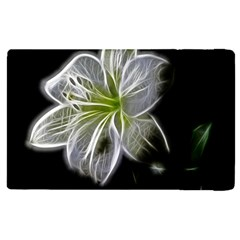 White Lily Flower Nature Beauty Apple Ipad 2 Flip Case