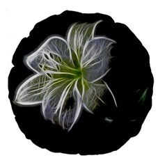 White Lily Flower Nature Beauty Large 18  Premium Round Cushions