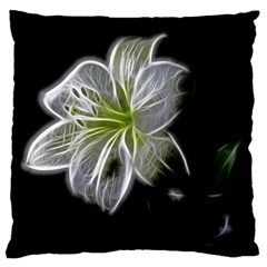 White Lily Flower Nature Beauty Large Flano Cushion Case (two Sides)