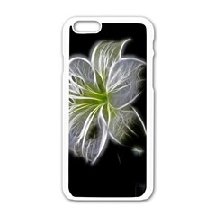 White Lily Flower Nature Beauty Apple Iphone 6/6s White Enamel Case