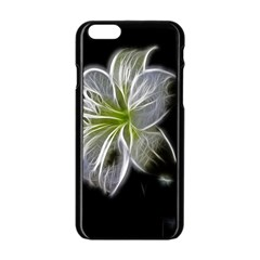 White Lily Flower Nature Beauty Apple Iphone 6/6s Black Enamel Case