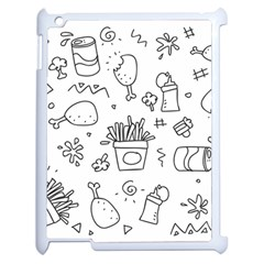 Set Chalk Out Scribble Collection Apple Ipad 2 Case (white)