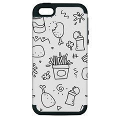 Set Chalk Out Scribble Collection Apple Iphone 5 Hardshell Case (pc+silicone)