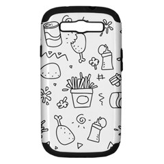 Set Chalk Out Scribble Collection Samsung Galaxy S Iii Hardshell Case (pc+silicone)