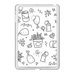 Set Chalk Out Scribble Collection Apple Ipad Mini Case (white)