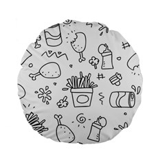 Set Chalk Out Scribble Collection Standard 15  Premium Round Cushions