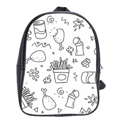 Set Chalk Out Scribble Collection School Bag (xl)