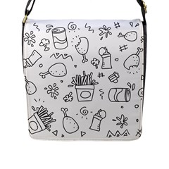 Set Chalk Out Scribble Collection Flap Messenger Bag (l)