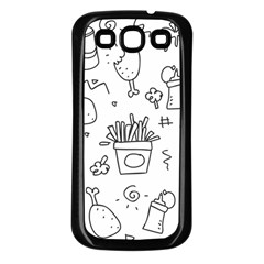 Set Chalk Out Scribble Collection Samsung Galaxy S3 Back Case (black)