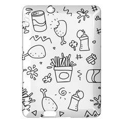 Set Chalk Out Scribble Collection Kindle Fire Hdx Hardshell Case