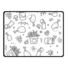 Set Chalk Out Scribble Collection Double Sided Fleece Blanket (small)