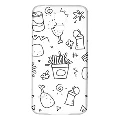 Set Chalk Out Scribble Collection Samsung Galaxy S5 Back Case (white)