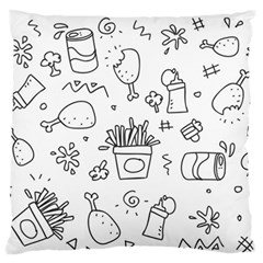 Set Chalk Out Scribble Collection Large Flano Cushion Case (two Sides)
