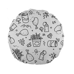 Set Chalk Out Scribble Collection Standard 15  Premium Flano Round Cushions