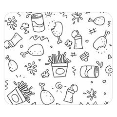 Set Chalk Out Scribble Collection Double Sided Flano Blanket (small)