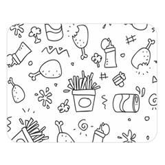 Set Chalk Out Scribble Collection Double Sided Flano Blanket (large)