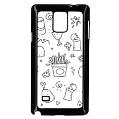 Set Chalk Out Scribble Collection Samsung Galaxy Note 4 Case (black)
