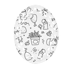 Set Chalk Out Scribble Collection Ornament (oval Filigree)