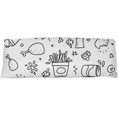 Set Chalk Out Scribble Collection Body Pillow Case Dakimakura (two Sides)
