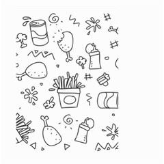 Set Chalk Out Scribble Collection Small Garden Flag (two Sides)