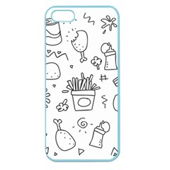 Set Chalk Out Scribble Collection Apple Seamless Iphone 5 Case (color)