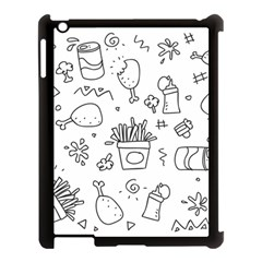 Set Chalk Out Scribble Collection Apple Ipad 3/4 Case (black)