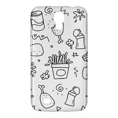 Set Chalk Out Scribble Collection Samsung Galaxy Mega 6 3  I9200 Hardshell Case
