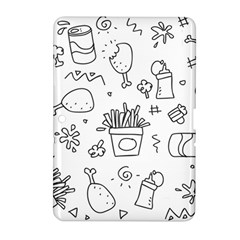 Set Chalk Out Scribble Collection Samsung Galaxy Tab 2 (10 1 ) P5100 Hardshell Case