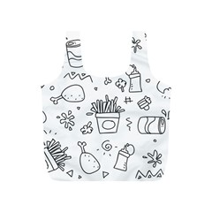 Set Chalk Out Scribble Collection Full Print Recycle Bags (s)