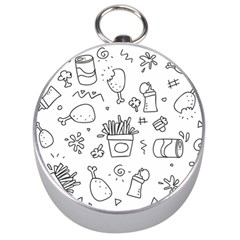 Set Chalk Out Scribble Collection Silver Compasses