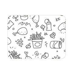 Set Chalk Out Scribble Collection Double Sided Flano Blanket (mini)