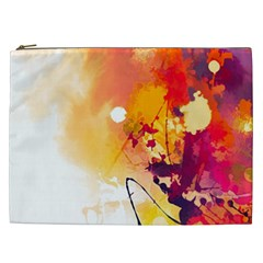 Paint Splash Paint Splatter Design Cosmetic Bag (xxl)