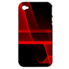 Background Light Glow Abstract Art Apple Iphone 4/4s Hardshell Case (pc+silicone)