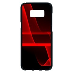 Background Light Glow Abstract Art Samsung Galaxy S8 Plus Black Seamless Case