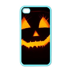 Pumpkin Helloween Face Autumn Apple Iphone 4 Case (color)