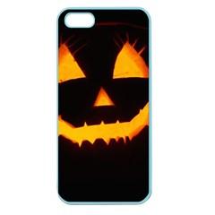 Pumpkin Helloween Face Autumn Apple Seamless Iphone 5 Case (color)