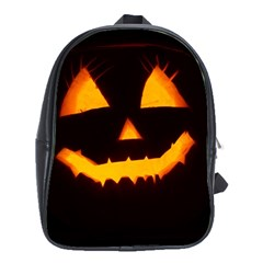 Pumpkin Helloween Face Autumn School Bag (xl)