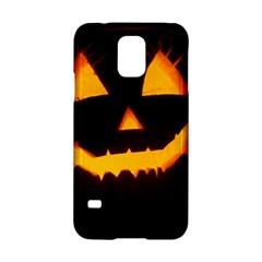 Pumpkin Helloween Face Autumn Samsung Galaxy S5 Hardshell Case