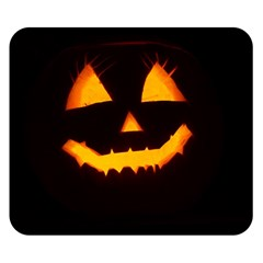 Pumpkin Helloween Face Autumn Double Sided Flano Blanket (small)