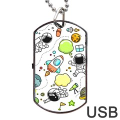 Sketch Set Cute Collection Child Dog Tag Usb Flash (one Side)