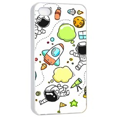 Sketch Set Cute Collection Child Apple Iphone 4/4s Seamless Case (white)