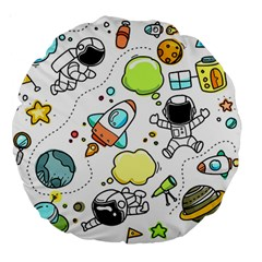 Sketch Set Cute Collection Child Large 18  Premium Round Cushions
