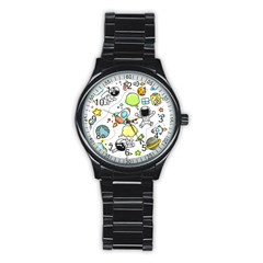 Sketch Set Cute Collection Child Stainless Steel Round Watch